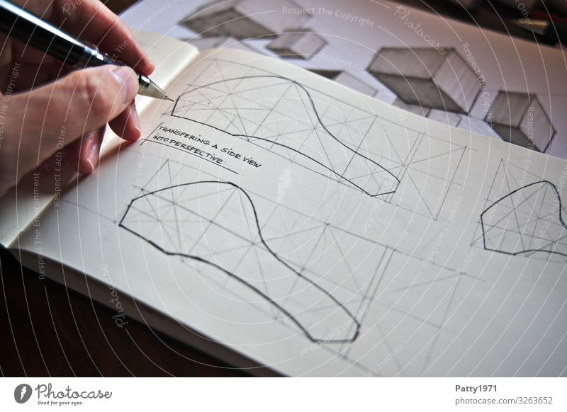 Human being Hand Design Technology Perspective Study Fingers Industry Draw Symmetry Complex