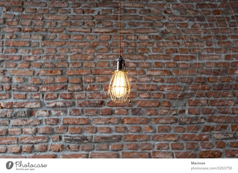 Light fixtures on a wall with bricks background. Shopping Luxury Design Interior design Decoration Lamp Industrial plant Building Architecture Brick light