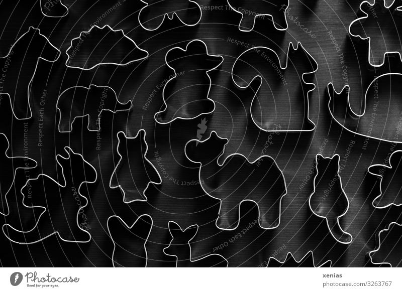 animal cookie cutters on wooden base Cookie cut out cookies Christmas & Advent Animal Cat Horse Mouse Hedgehog Owl birds Squirrel Dragon Camel Elephant Crumpet