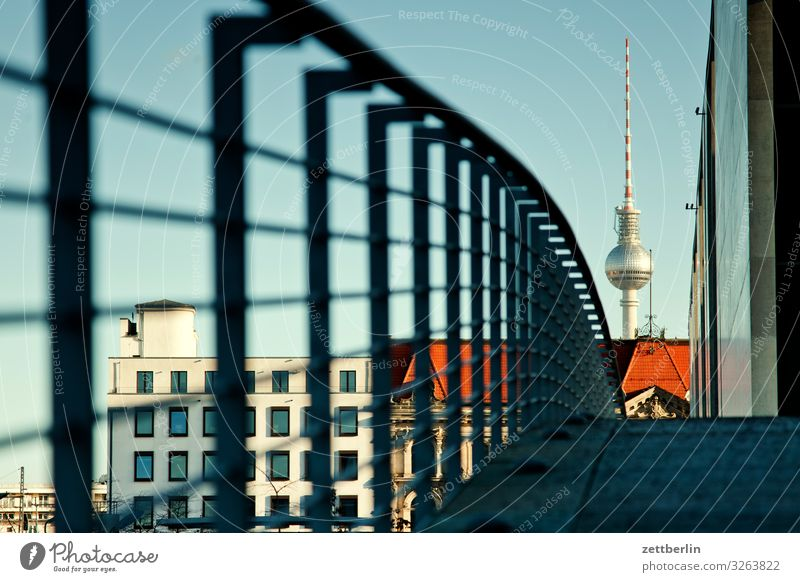 TV tower again Architecture Berlin Reichstag Germany Capital city Federal Chancellery marie elisabeth lüders house Parliament Government Seat of government