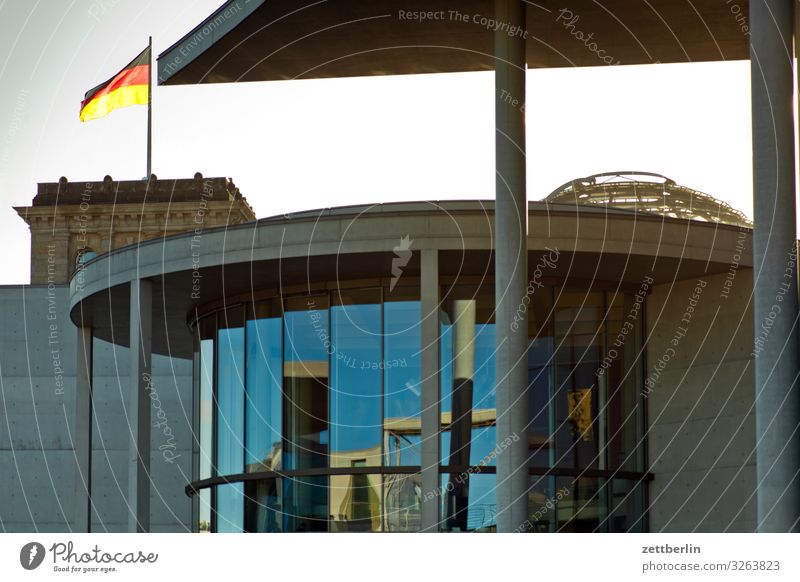 Architecture Berlin Germany German Flag Capital city Parliament Reichstag Government Seat of government Spree Government Palace Spreebogen Federal Chancellery