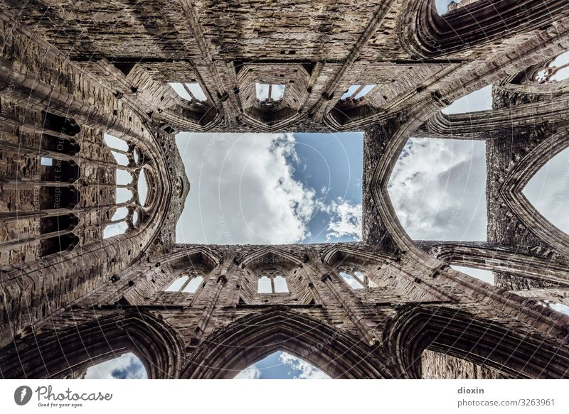 and above us only sky Vacation & Travel Tourism Trip Sky Clouds Deserted Church Dome Ruin Manmade structures Building Architecture Wall (barrier)