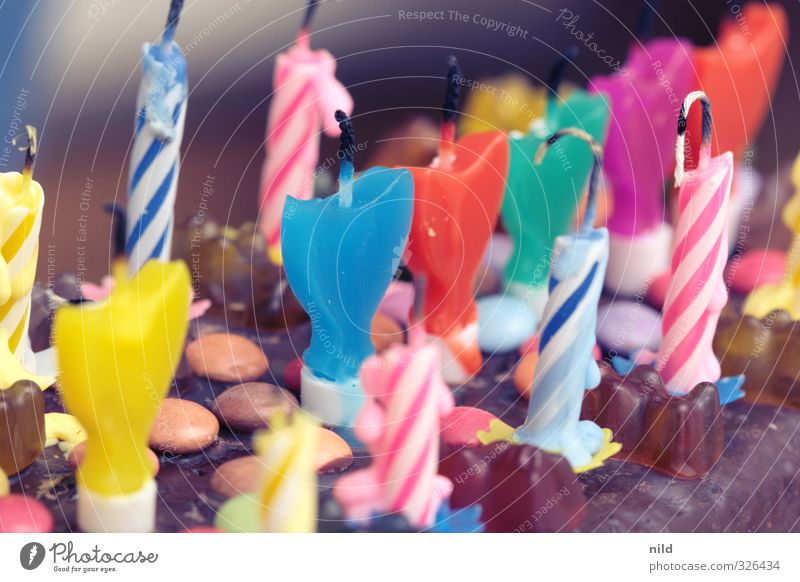 HAPPY BIRTHDAY PHOTOCASE Food Cake Lifestyle Joy Feasts & Celebrations Birthday Candle Multicoloured Birthday cake Congratulations Candy Sweet Colour photo