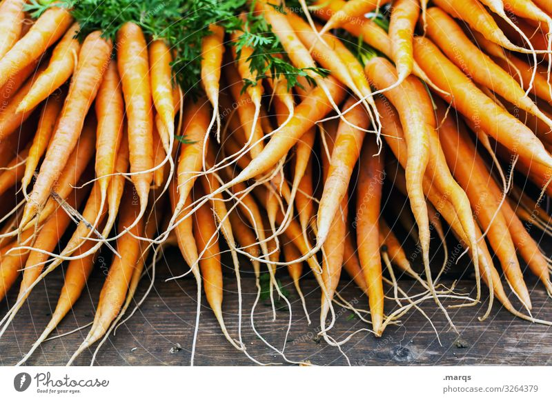 Carrot (50%) Food Vegetable Nutrition Organic produce Vegetarian diet Farmer's market Fresh Healthy Many Colour photo Exterior shot Close-up Deserted