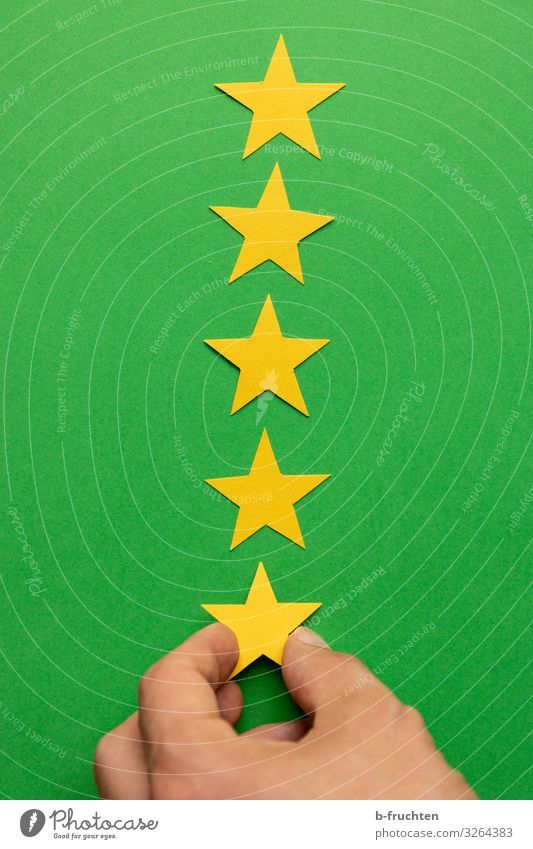 Five Stars Workplace Economy Advertising Industry Stock market Business Fingers Sign Select To hold on Yellow Green Evaluate Decision Star (Symbol) Category