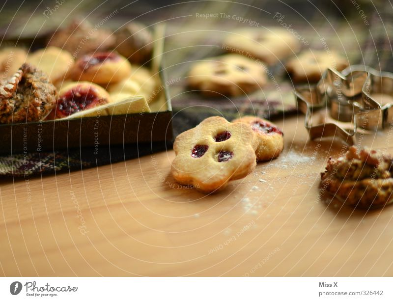 Feasts & Celebrations Food Nutrition Cooking & Baking Sweet Delicious Candy Baked goods Dough Carton Cookie Christmas biscuit Jam To have a coffee cookie cutter
