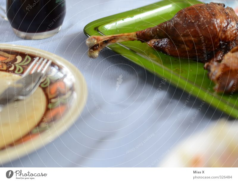 mace Food Meat Nutrition Dinner Banquet Wine Crockery Eating Feasts & Celebrations Thanksgiving Delicious Gluttony Roasted goose Cudgel Goose Duck Skeleton