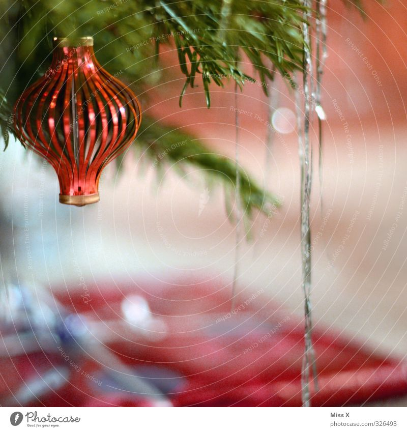 Christmas & Advent Glittering Christmas tree Hang Glitter Ball Christmas decoration Fir branch Christmas tree decorations Tinsel Christmas fairy lights