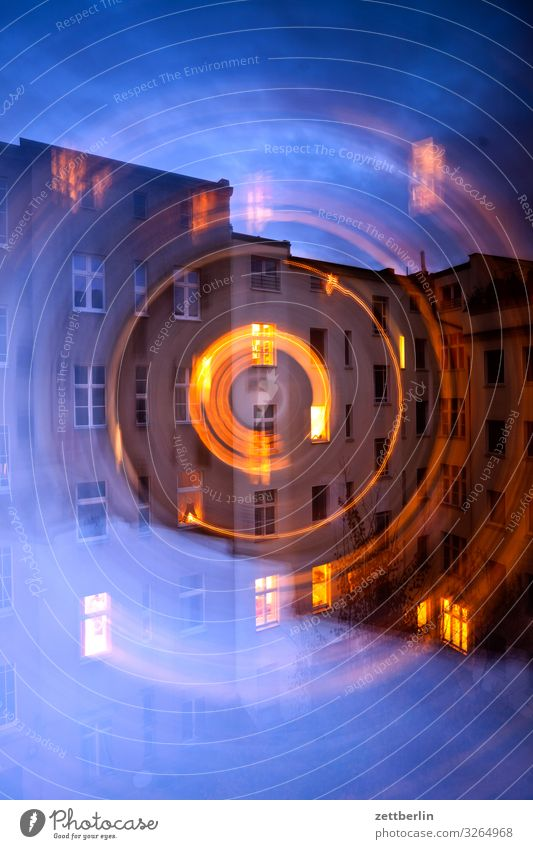 Sky Heaven Town House (Residential Structure) Window Dark Wall (building) Movement Copy Space Facade Living or residing Circle Apartment Building Downtown