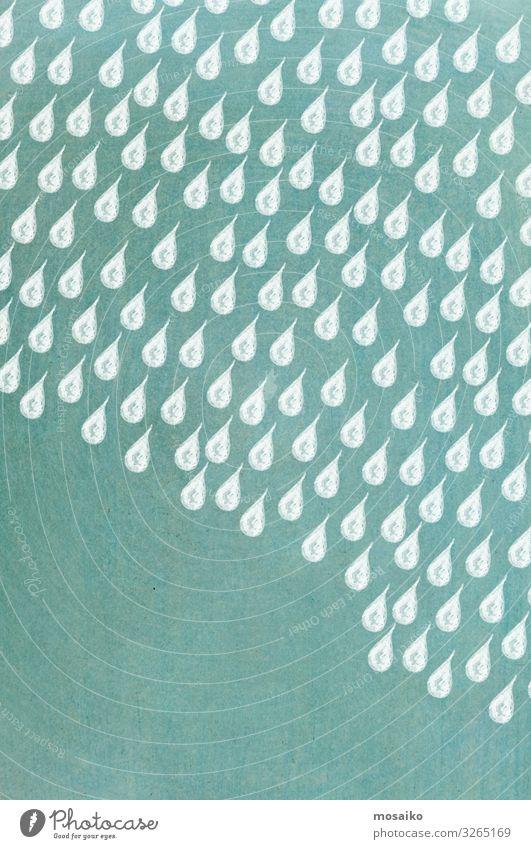 drops on pastel tone background - water concept Green White Sadness Style Art Flying Design Decoration Bright Rain Retro Elegant Paper Illustration Sign