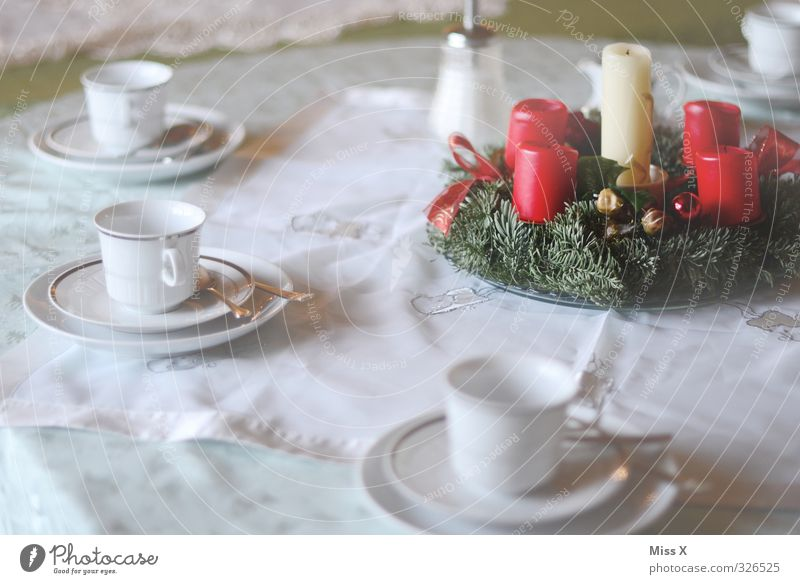 Anticipation ;-) Food Nutrition Breakfast To have a coffee Buffet Brunch Hot drink Coffee Crockery Plate Feasts & Celebrations Christmas & Advent Eating