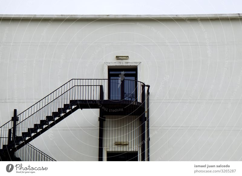 stairs and door on the white facade of the building Old Town White House (Residential Structure) Street Architecture Wall (building) Building Facade Stairs