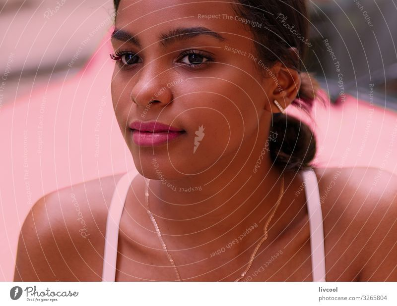 beauty cuban woman II - havana Lifestyle Happy Island Human being Feminine Young woman Youth (Young adults) Woman Adults Head Face Eyes Ear Nose Mouth Lips 1