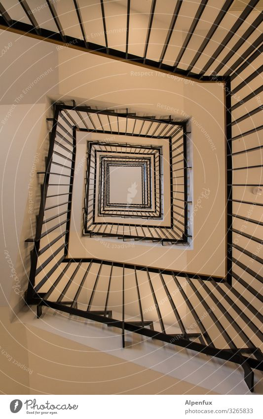 Spirality High-rise Architecture Stairs Esthetic Contentment Design Elegant Mysterious Horizon Town Irritation Lanes & trails Staircase (Hallway) Colour photo