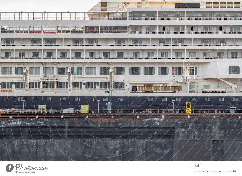 cruise ship closeup Luxury Town Balcony Navigation Passenger ship Cruise liner Watercraft Modern Port of Hamburg vessel Germany Northern Germany seaport