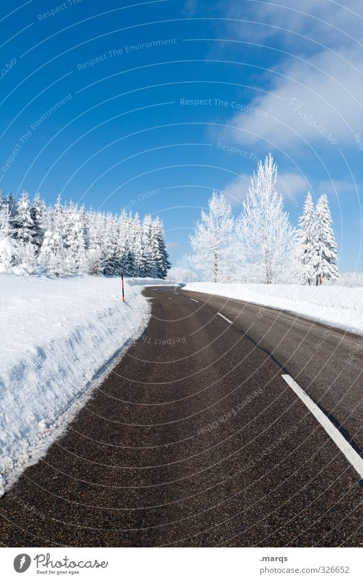 Sky Nature Vacation & Travel Beautiful Tree Landscape Winter Cold Environment Street Snow Lanes & trails Horizon Moody Lifestyle Transport