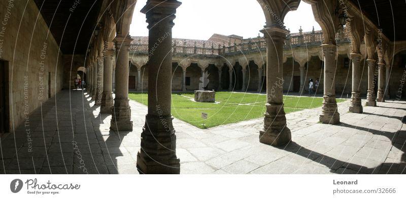 Human being Sun Architecture Well Spain Column Column Monastery Colour tone