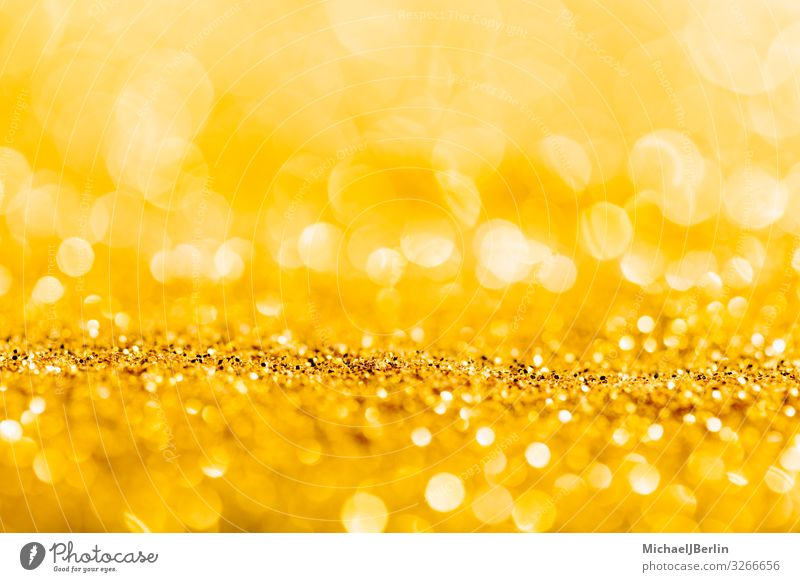 Gold glitter close-up background with shallow depth of field Christmas & Advent Positive Material Background picture Brillant Glittering Depth of field Blur