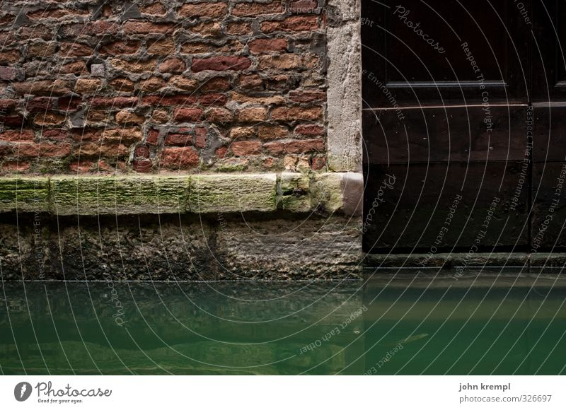 acqua alta Water Venice Port City House (Residential Structure) Manmade structures Building Architecture Wall (barrier) Wall (building) Facade Door