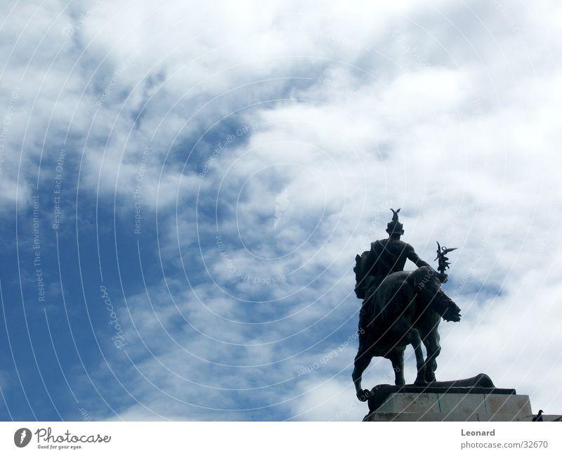 cavalier Warrior Man Horse Clouds Art Sculpture Spain Craft (trade) Rider Sky