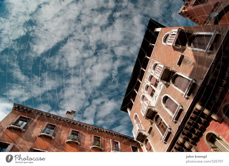 Sky Vacation & Travel Blue City Red Clouds Window Architecture Building Brown Facade Idyll High-rise Authentic Transience Change