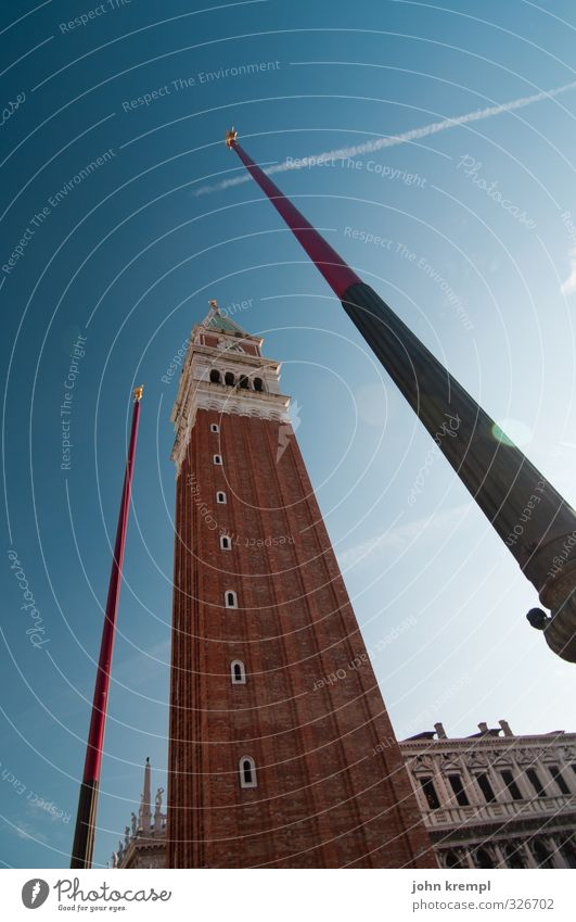 pole vault Venice Italy Port City Downtown Old town Tower Manmade structures Building Architecture Campanile San Marco Tourist Attraction St. Marks Square