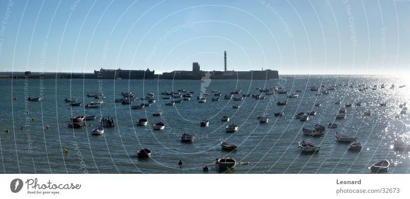 Water Sky Sun Ocean Watercraft Castle Bay Spain Lighthouse Atlantic Ocean Andalucia