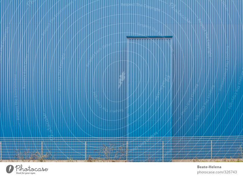 total blue / monochrome urban planning weatherproof Architecture Saarbrücken House (Residential Structure) Industrial plant Building Wall (barrier)
