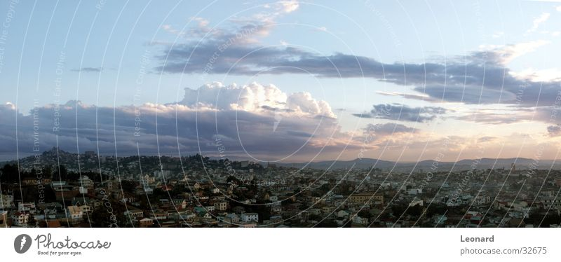 City Tree Clouds House (Residential Structure) Mountain Building Horizon Large Hill Panorama (Format) Africa Palace Moral