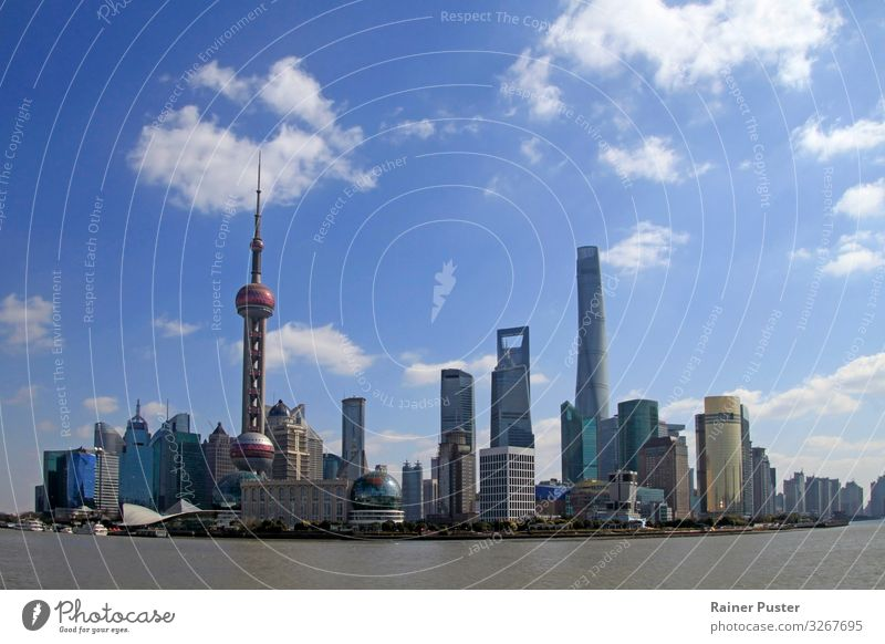 Town Business Tourist Attraction Skyline Downtown Economy China Innovative Global Globalization Shanghai