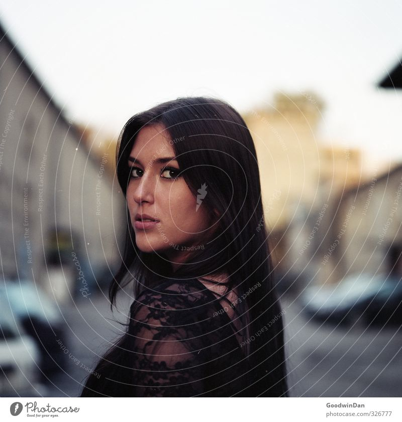 Human being Youth (Young adults) City Beautiful Young woman Adults Cold Street 18 - 30 years Feminine Friendship Moody Car Authentic Simple Downtown