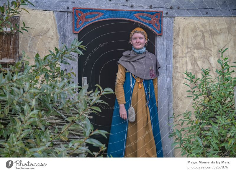 The Danish Viking Girl Feminine Young woman Youth (Young adults) 1 Human being 13 - 18 years Exhibition Village Happy Vikings bork heritage Colour photo