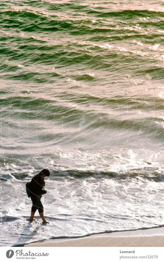 Woman Human being Water Sun Ocean Beach Colour Sand Coast Waves
