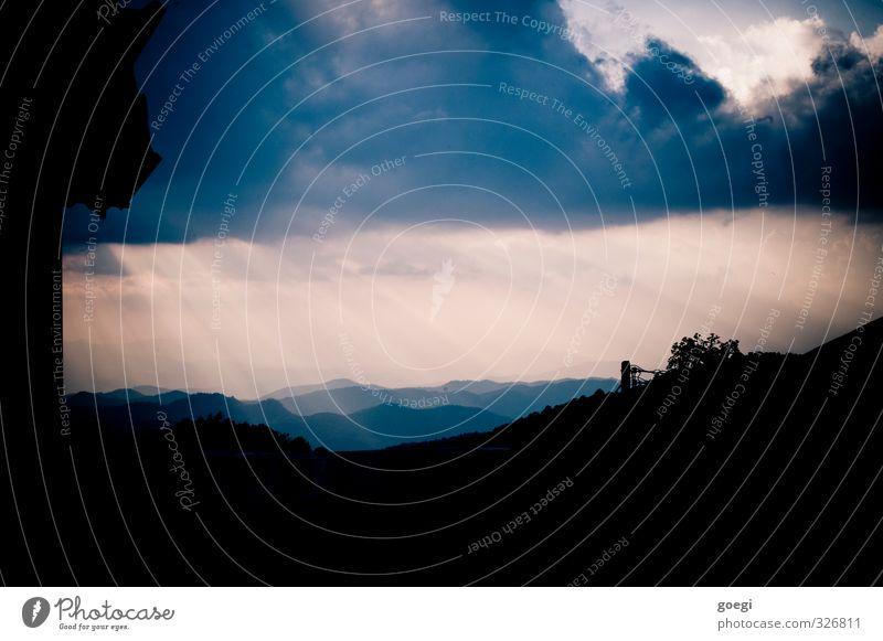Sky Sun Landscape Clouds Mountain Environment Horizon Weather Illuminate Esthetic Fantastic Climate Warm-heartedness Hill Belief Virgin forest