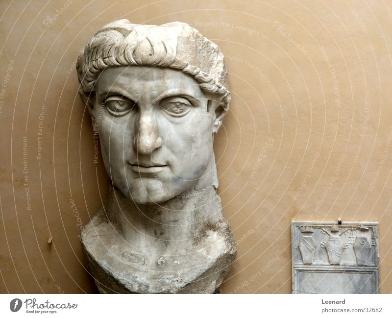 Man Face Stone Building Art Craft (trade) Historic Sculpture Rome Exhibition Death's head Sculpture