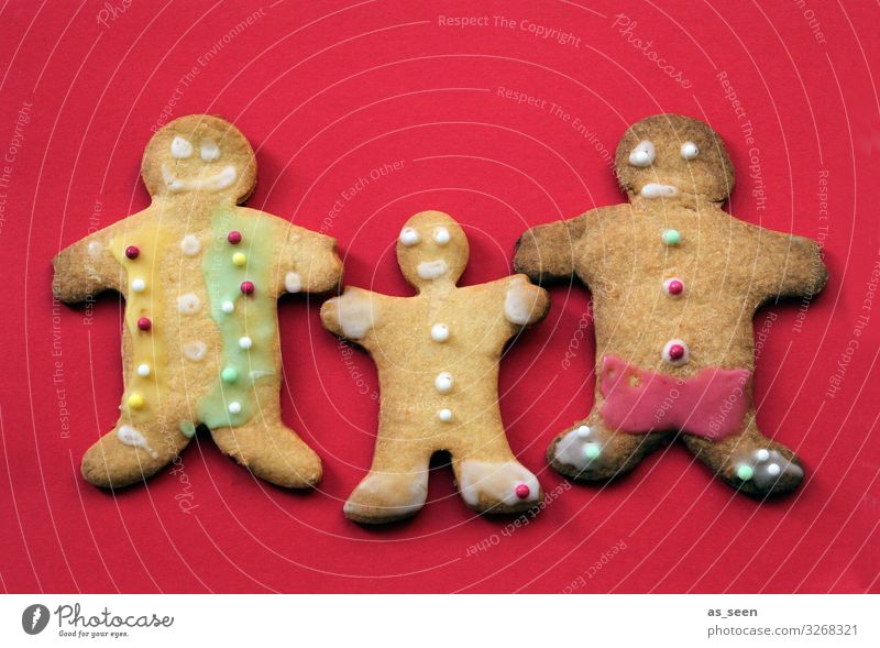 father mother child Food Dough Baked goods Cake Candy Gingerbread Cookie Nutrition Christmas & Advent Infancy To hold on Brash Together Uniqueness Small Funny