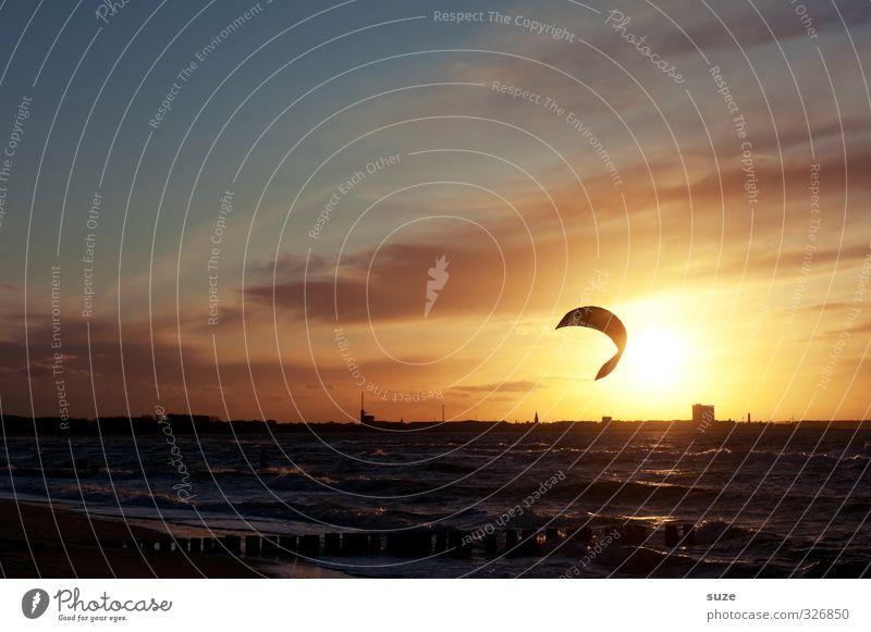 parasol Joy Leisure and hobbies Summer Ocean Waves Sports Aquatics Environment Nature Landscape Water Sky Horizon Beautiful weather Wind Coast Baltic Sea