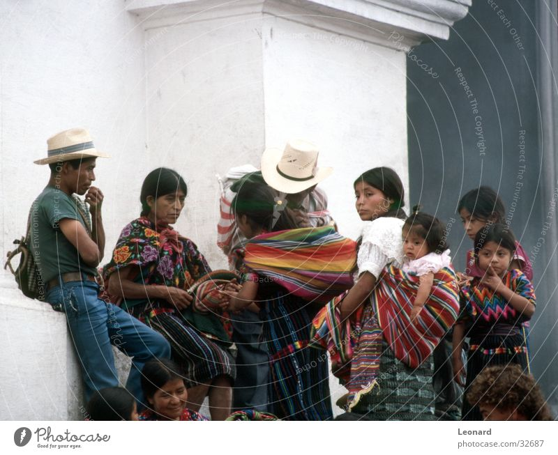 Maya people Man Woman Child Girl Ethnology Guatemala Human being Family & Relations Group Boy (child) culture Colour South America boy has color church