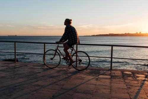 cycle Lifestyle Healthy Athletic Vacation & Travel Trip Far-off places Freedom Cycling tour Summer Summer vacation Sports Human being Young man