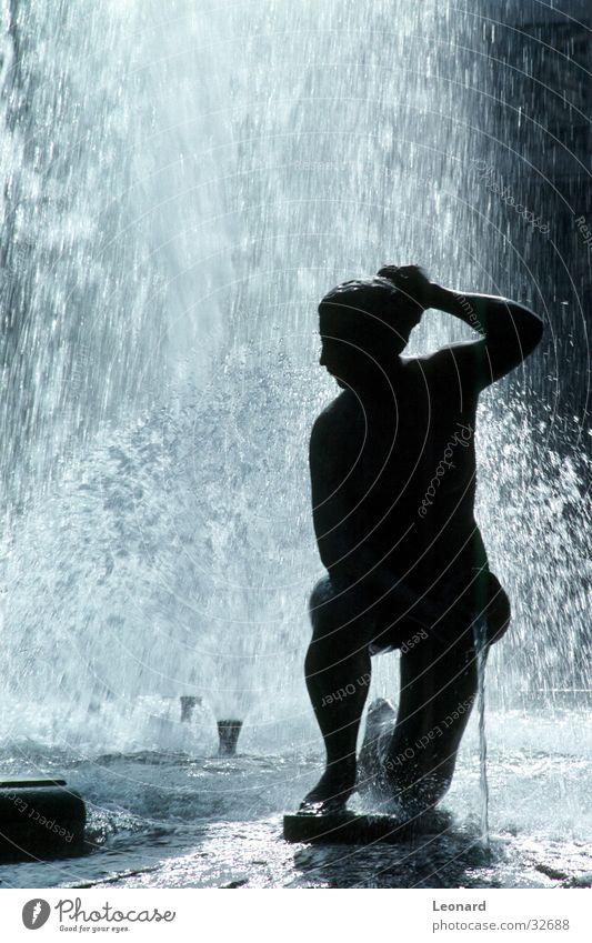 Woman Water Jump Statue Craft (trade) Sculpture Waterfall Fountain