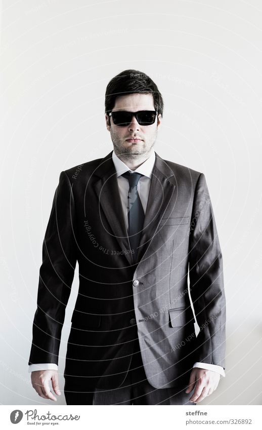 business clown Human being Masculine 1 Cool (slang) Success Sunglasses Suit mafioso Mafia Businessman businesskasper Wrinkles Dangerous Arrogant lacquered