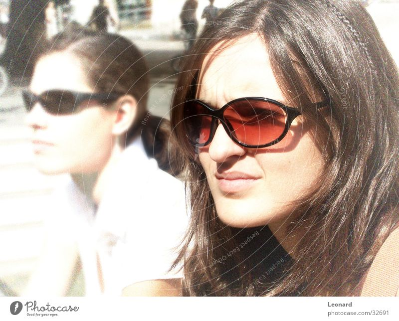 girl Woman Eyeglasses Human being Face Sun Shadow