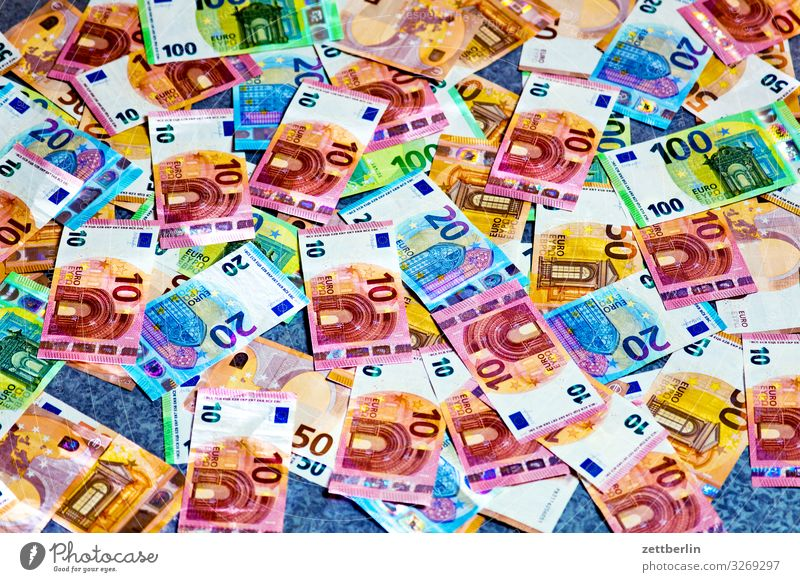 Paper money Financial institution Loose change bribe Paying Income Revenue Euro Euro symbol Financial Industry Money Bank note corruption paper money