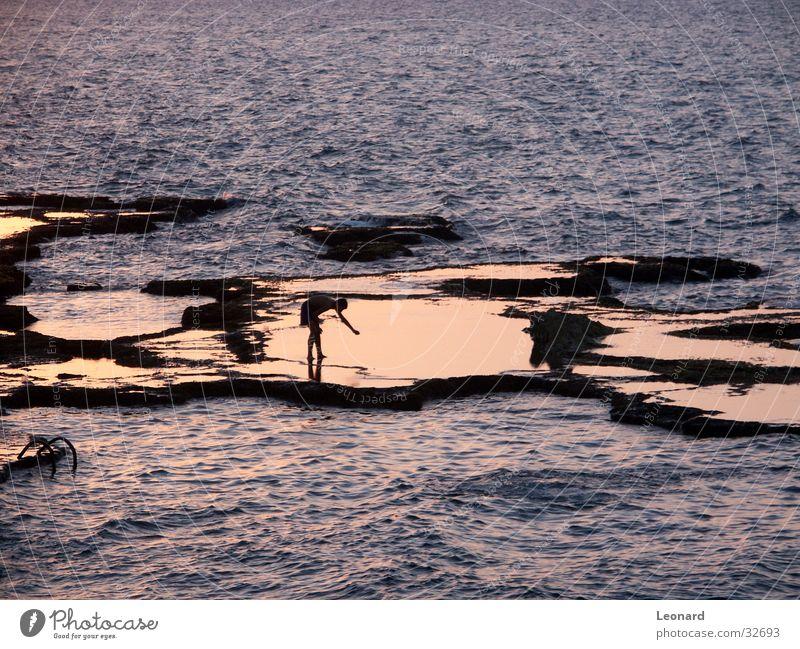 Human being Water Ocean Waves Rock Child