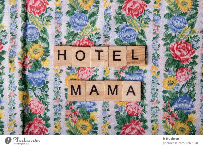 Hotel Mama Lifestyle Shopping Style Leisure and hobbies Wood Characters To enjoy Living or residing Friendliness Multicoloured Mother Retro Letters (alphabet)