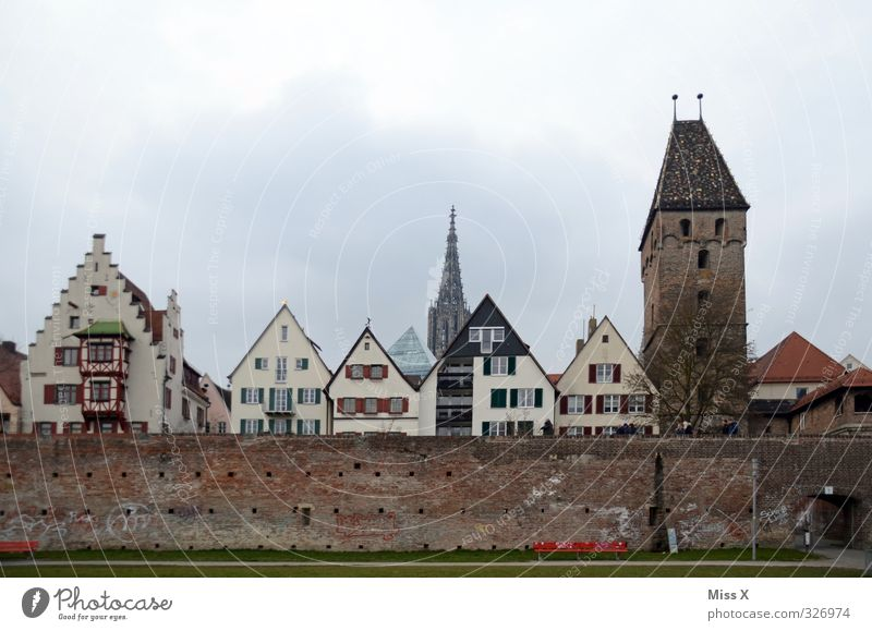 I miss you so much. Town Downtown Old town Church Dome Wall (barrier) Wall (building) Facade Tourist Attraction Landmark Monument Historic Ulm Ulm Cathedral