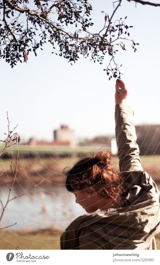 - say nothing more Feminine Young woman Youth (Young adults) Life Arm Hand 1 Human being 18 - 30 years Adults Nature Sun Sunlight Spring Tree Grass Bushes Park