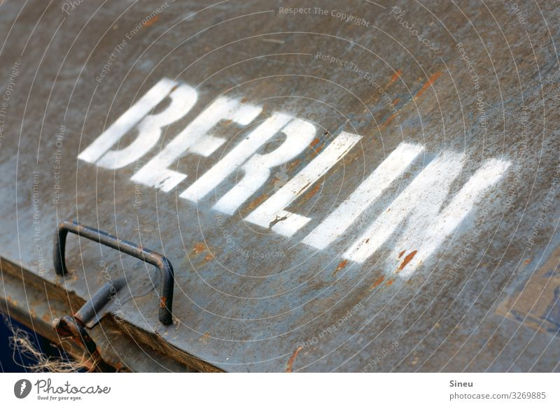 Town Berlin Business Metal Characters Signage Industry Typography Logo Warning sign