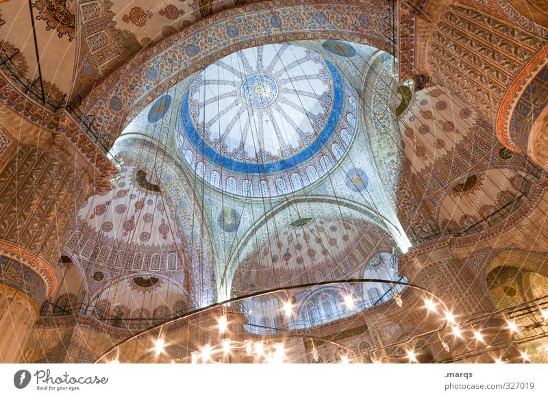 cupola Vacation & Travel Tourism Sightseeing City trip Culture Istanbul Turkey Manmade structures Building Architecture Mosque Blue Mosque Tourist Attraction
