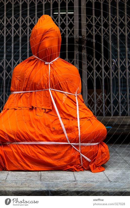 Christo veils Dalai Lama 1 Human being Bangkok Thailand Asia South East Asia Exceptional Buddha Statue of Buddha Buddhism Souvenir Gift Packaged Bondage Tourism